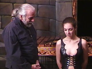Core erotic soft young Soft young brunette in bustier gets caned on ass by older ponytailed dude