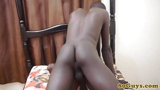 African amateur barebacking tight black butt