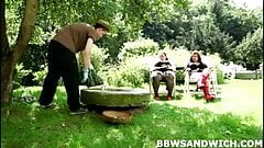 Marta and Jitka fuck their personal slave gardener