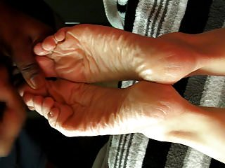 Cum loads on wives Two cum-loads on dry soles, same day