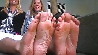 Tag team of blonde feet