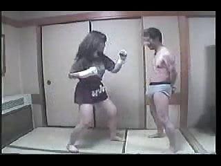 Kickboxing big penis Japanese kickboxer
