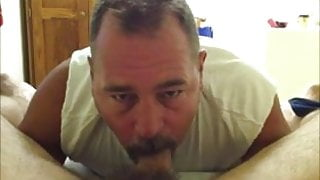 handsome daddy's cock suck