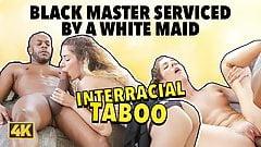 BLACK4K. Cleaning girl Monique Woods seduces rich