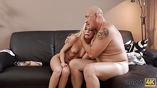 STEP DADDY4K. Bald daddy cant believe alluring hotties Candee