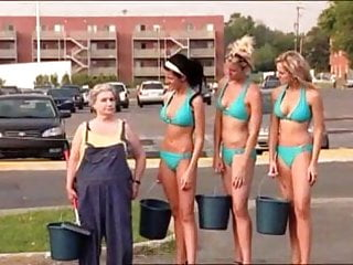 Bikini car wash company clip Sexy car wash prank with hot bikini babes