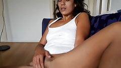 Little slut has to make herself cum