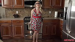 Pregnant MILF Housewife Crystal Clark in the Kitchen