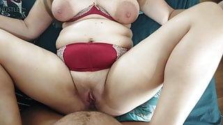 Chubby milf gets anal sex