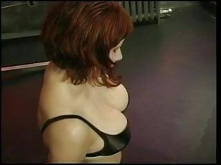 Big tits bdsm Big tits redhead gets her boobs felt by her master