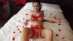 Emotional Valentine's Day sex with a hot MILF