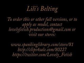 Femdom whip clips - Clip 2lil lilis belting - face