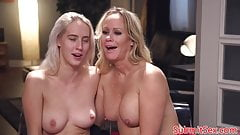 BDSM step daughter in pussy fucking trio