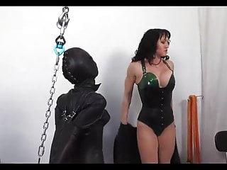 Leather woman bondage Leather bondage torture