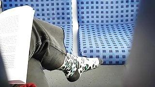 Nice socks on train 3