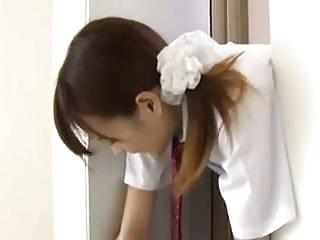 Asian stink bug light trap - Japanese schoolgirl trapped on elevator 3