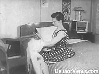 1950 indian pornography - Authentic vintage porn 1950s - shaved pussy, voyeur fuck