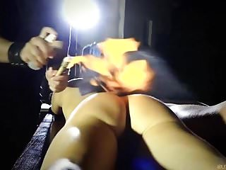 Hardest fucking machines Bound girl handcuffed fucked in the hardest bdsm humiliation
