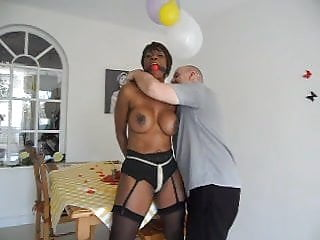 Bondage enima table - Tied to table tits bound
