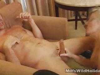 Holiday gay cock - Cock sucking milf on a holiday cala
