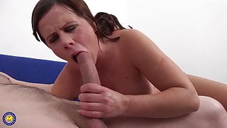 Taboo sex with moms and sons while daddies away