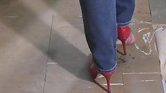 Red heels shoejob