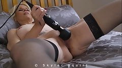 Skyler Squirt Playing With Her Wand - Teaser