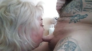 deep slobbering blowjob and mouthful of cum