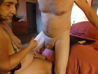 Sperm and prostate - Fucking my mans ass with wevibe and prostate fucking him
