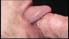 Full length glory hole creampies