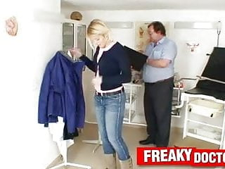Reverse sexual harassment - Awesome blonde sweet cat harassed by perverted gynecologist