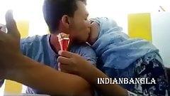 Dhaka, Bangladesh, lovers kiss in public