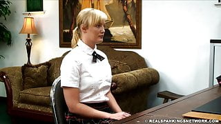 A blonde well hand spanked