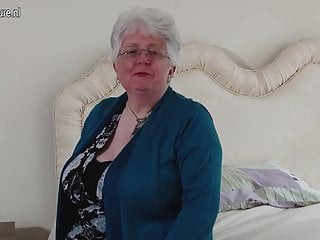 Big breasted british lesbians - Big breasted british granny playing with herself