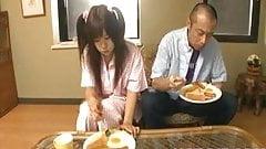 Shino Nakamura gets cum on fucked shaved ass from sucked c
