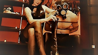 Gas mask breathing games