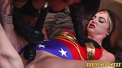 Humiliated and licked of Wonder woman