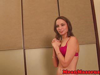 Lingerie customer model - Rough masseuse humiliating customer
