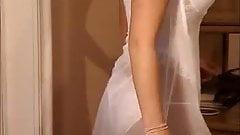 Hot girl dancing in satin panties