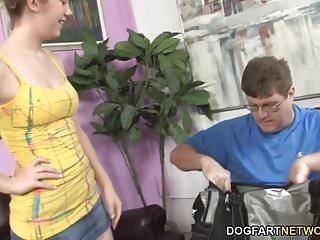 Her huge black cocks Sammy grand fucks huge black cock while her dad watches