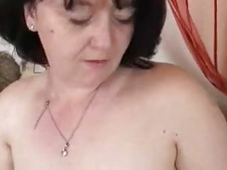 Chubby brunette masturbates Older chubby brunette masturbating and fucking with young