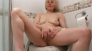 Hazel takes a shower for our greatest pleasure