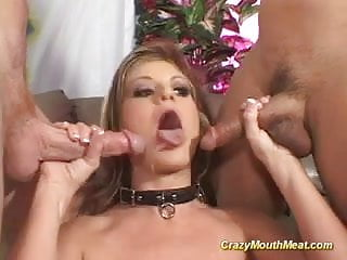She takes many cocks - Crazy mouth meat babe takes many cocks in her mouth