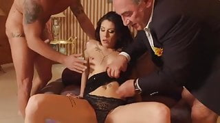 Married Couple Sharing Wife Old Man