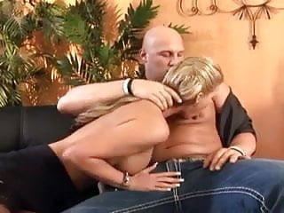 Blonde boob high Big boobed babe fucking in thigh high stockings