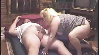 Chubby Guy Fucked and Sucked by Chubby Lady, Cum Swallowed