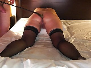 Spanked asshole punished Punishment for my slave, whipping on her pussy and asshole