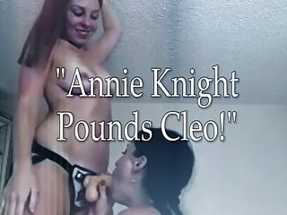 Escorts forced by strap on Cleo gets fucked by strap on