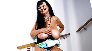 Saggy Big Tits Granny