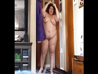 Ugly nude grannies fucking - Ugly wife stands in the hallway nude showing her saggy belly